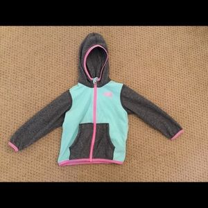 North face fleece hooded jacket 18-24 months